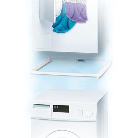 Összeépítő keret mosógéphez és szárítógéphez keskeny kivitelezés