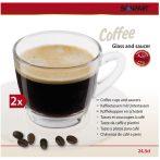 Coffee üvegpohár kávéscsésze készlet 2 db-os