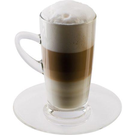 Latte Macchiato üvegpohár kávéscsésze készlet 2 db-os