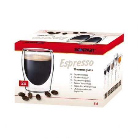 Thermo espresso duplafalú pohár 2 db-os