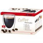 Thermo coffee kávé duplafalú pohár 2 db-os