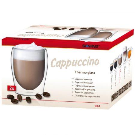 Thermo cappuccino kávé duplafalú pohár 2 db-os