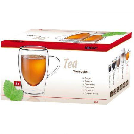 Thermo Tee tea duplafalú pohár 2 db-os