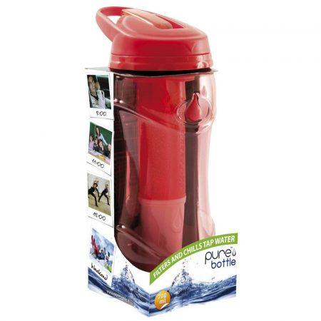 Pure Bottle piros vízszűrő kulacs