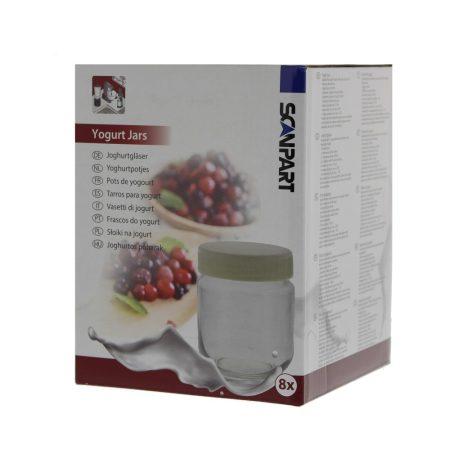 Joghurtkészítő géphez pohár szett 8 db - Nagygép tartozékok, Hűtőszekrény, Joghurtkészítő poharak