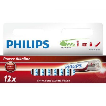 Philips Power Alkaline elem 12db AAA LR03P12W