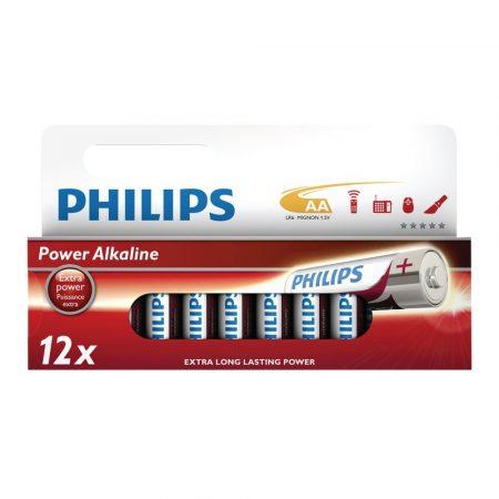 Philips Power Alkaline elem 12db AA LR6P12W