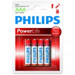 Philips Power Alkaline elem 4db AAA LR03P4B