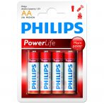 Philips Power Alkaline elem 4db AA LR6P4B