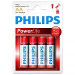 Philips Power Alkaline elem 4db AA LR6P4B