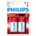 Philips Power Alkaline elem 2db C LR14P2B