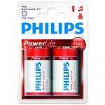Philips Power Alkaline elem 2db D LR20P2B
