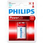 Philips Power Alkaline elem 1db 9V 6LR61P1B