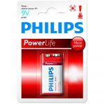 Philips Power Alkaline elem 1db 9V 6LR61P1B