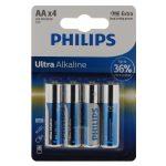 Philips Ultra Alkaline elem 4db AA LR6E4B