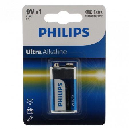 Philips Ultra Alkaline elem 9V 6LR61E1B