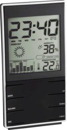 Digitális időjárás állomás, komfort jelzés, fekete, TFA 35.1102.01