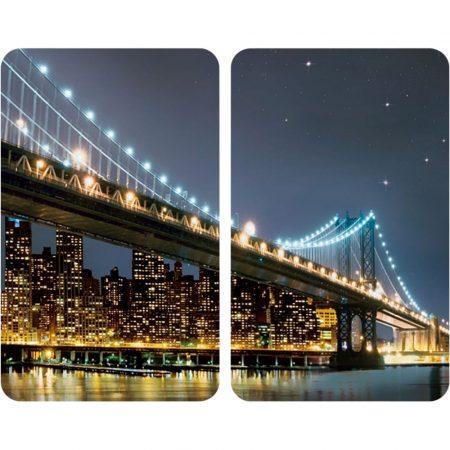 """Üveg tűzhely fedőlap """"Brooklyn híd"""" 30 X 52 cm - Nagygép tartozékok, Tűzhely, Fedőlap"""