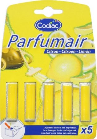 Porszívó porzsák illatosító rudak porzsákos/porzsák nélküli porszívóhoz Lemon