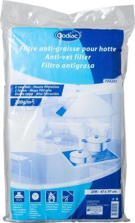 Univerzális páraelszívó zsírszűrő filter 200g/nm