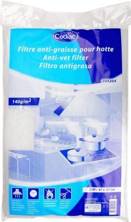 Univerzális páraelszívó zsírszűrő filter, 2 db  140g/nm